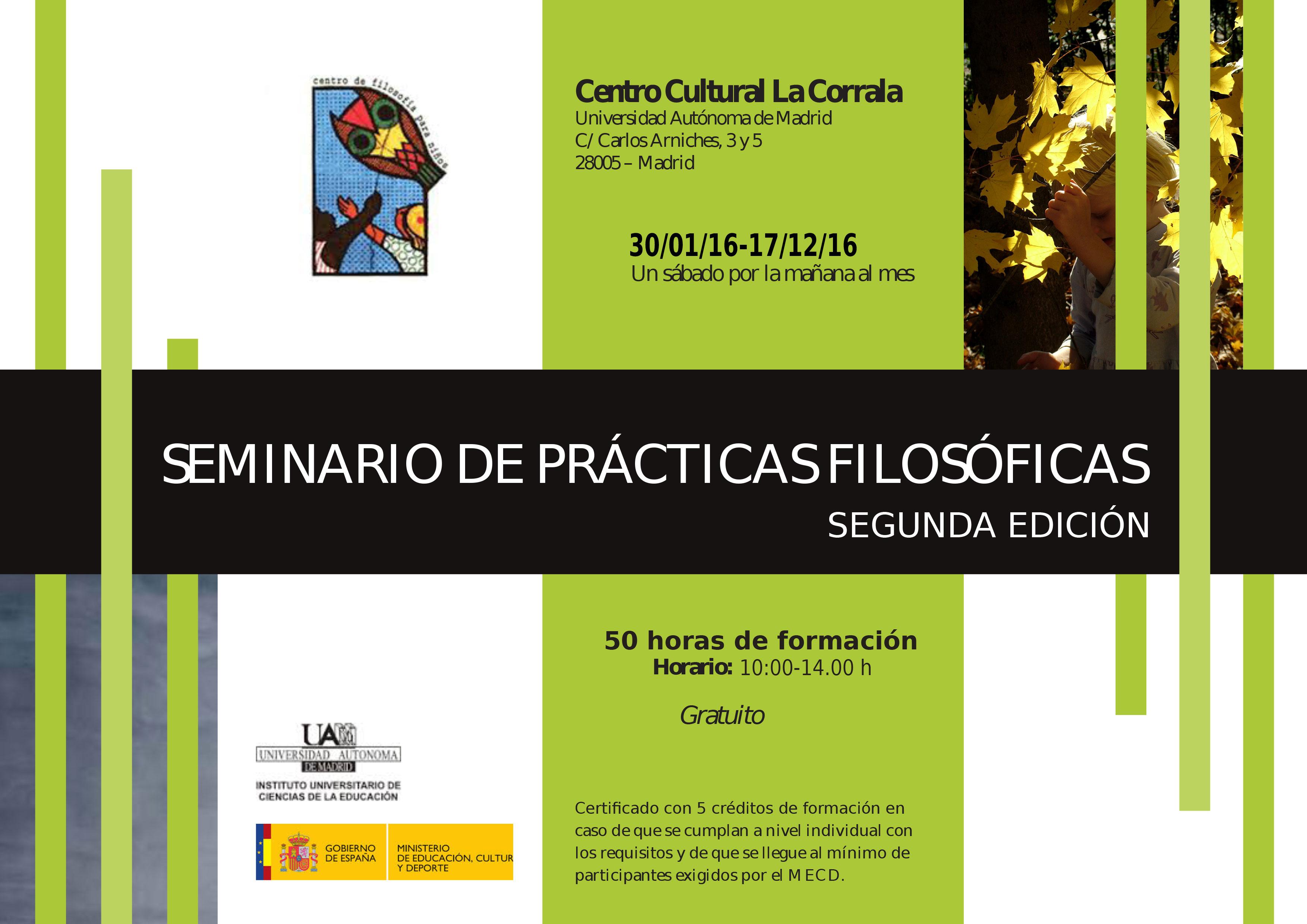 Seminario Prácticas Filosóficas 2016